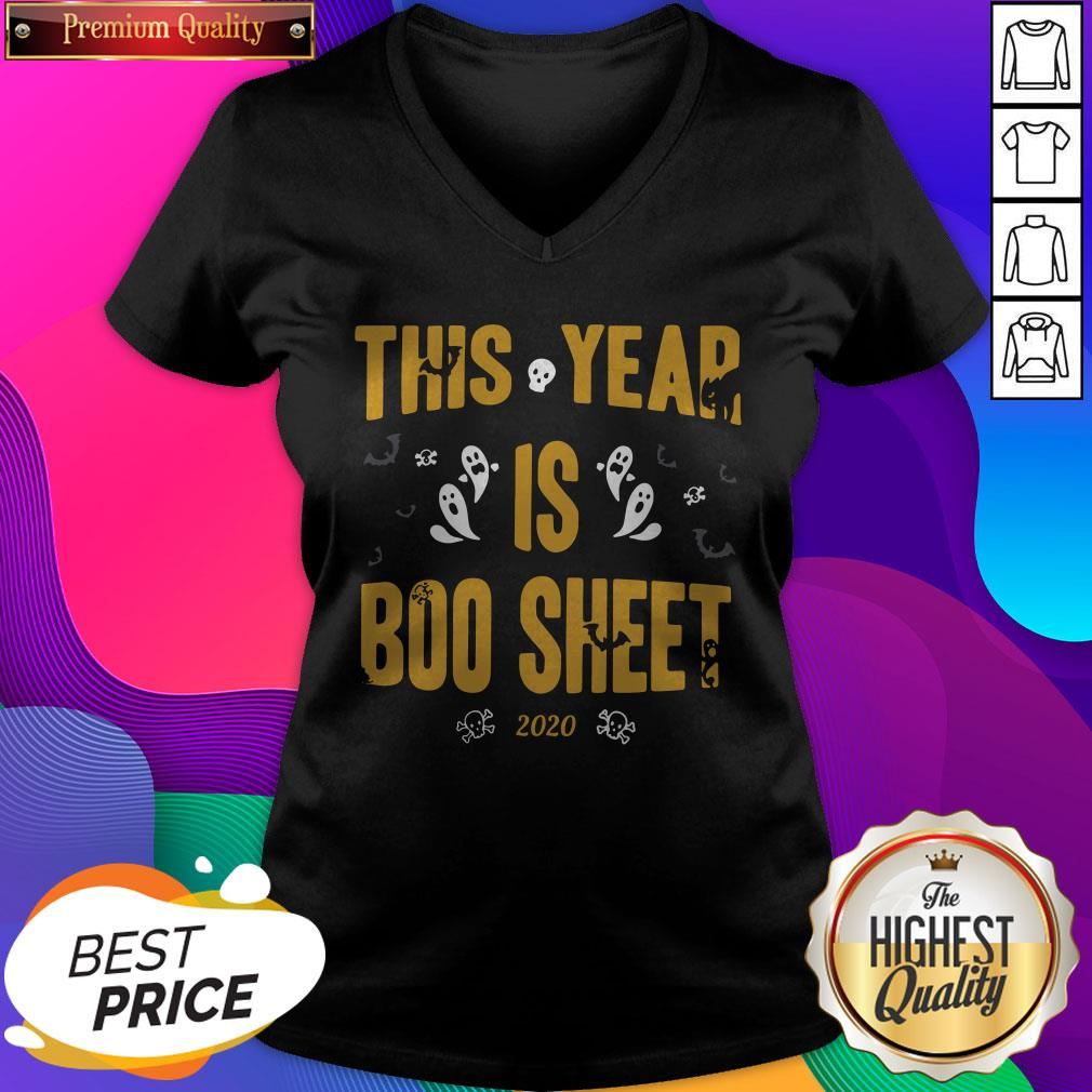 This Year Is Boo Sheet Halloween V-neck