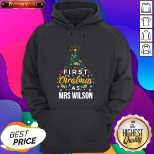 First Christmas As Mrs Wilson Tree Unisex Hoodie- Design By Sheenytee.com