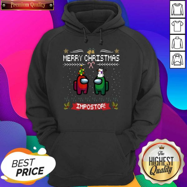 Impostor Imposter Among Game Us Sus Merry Christmas Hoodie- Design By Sheenytee.com