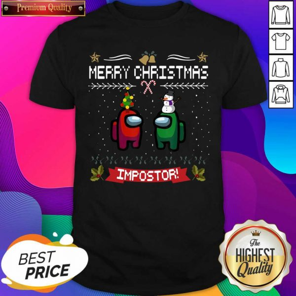 Impostor Imposter Among Game Us Sus Merry Christmas Shirt- Design By Sheenytee.com