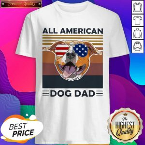 All American Pug Dog Dad Vintage Shirt- Design By Sheenytee.com