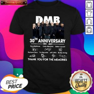 Hot DMB 30th Anniversary Thank You For The Memories Signatures Shirt- Design By Sheenytee.com