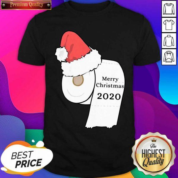 Santa Hat Toilet Paper Merry Christmas 2020 Shirt- Design By Sheenytee.com