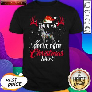 Great Dane Dog This Is My Great Dane Christmas Shirt- Design By Sheenytee.com