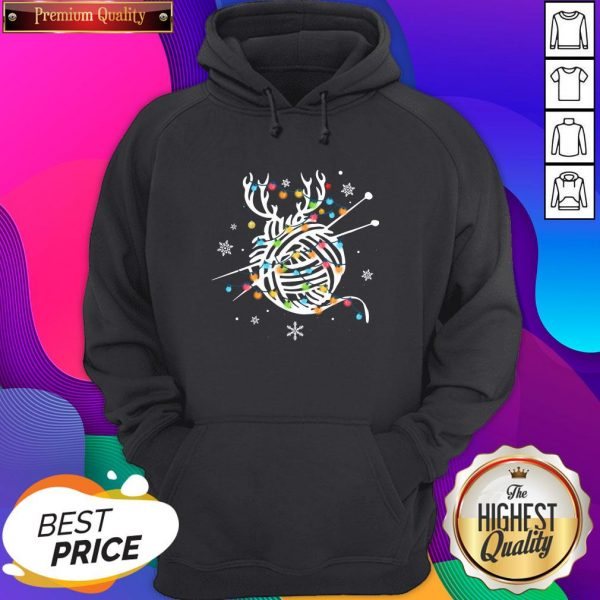 Official Crochet And Knitting Lighting Yarn Christmas Unisex Hoodie- Design By Sheenytee.com
