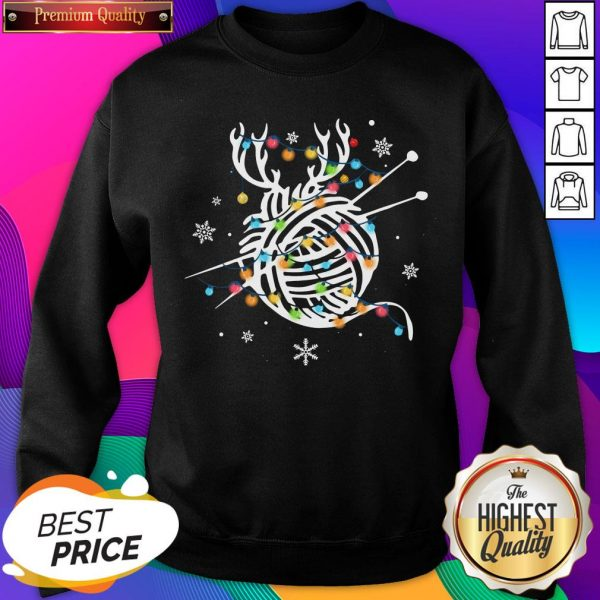 Official Crochet And Knitting Lighting Yarn Christmas Unisex Sweatshirt- Design By Sheenytee.com