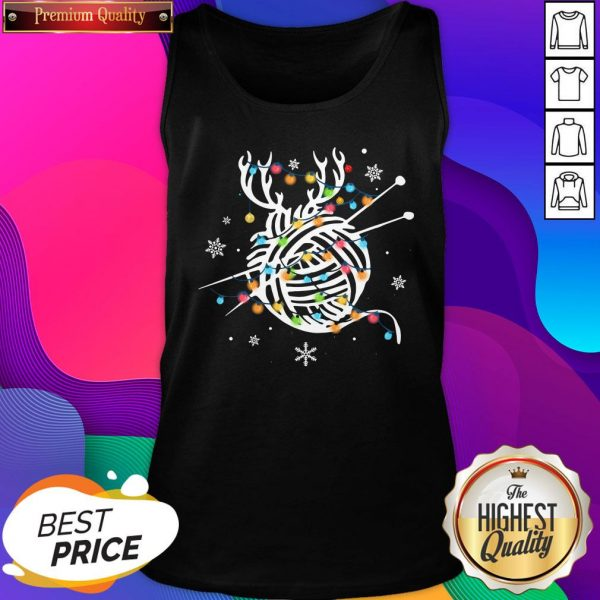 Official Crochet And Knitting Lighting Yarn Christmas Men's Tank Top- Design By Sheenytee.com