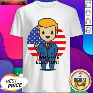 Official I Won The Election Trump To The World American Flag Shirt- Design By Sheenytee.com