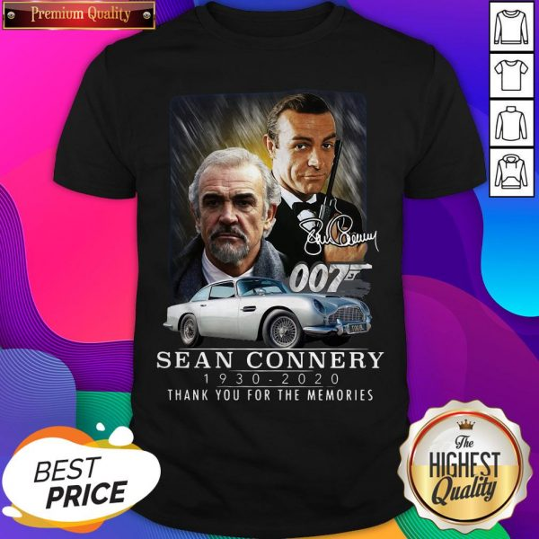 Sean Connery 007 1930 2020 Thank You For The Memories Signature Shirt- Design By Sheenytee.com