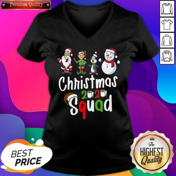 Squad Quarantine Christmas 2020 Family Matching V-neck- Design By Sheenytee.com
