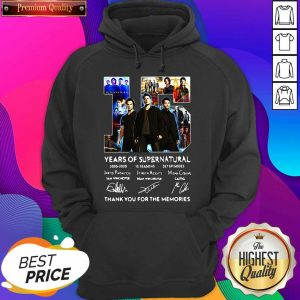 Top 15 Years Of Supernatural Thank You For The Memories Signatures Hoodie- Design By Sheenytee.com