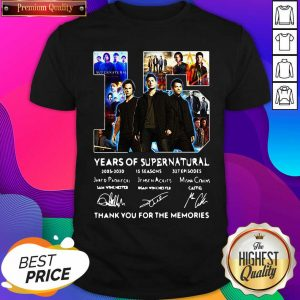 Top 15 Years Of Supernatural Thank You For The Memories Signatures Shirt- Design By Sheenytee.com