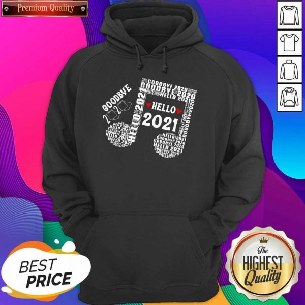 Bye 2020 Hello 2021 New Years Heart Music Note Hoodie- Design By Sheenytee.com
