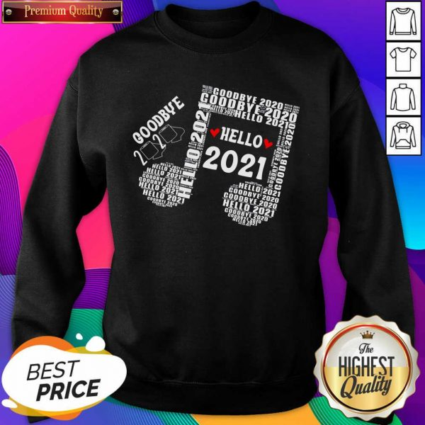Bye 2020 Hello 2021 New Years Heart Music Note Sweatshirt- Design By Sheenytee.com