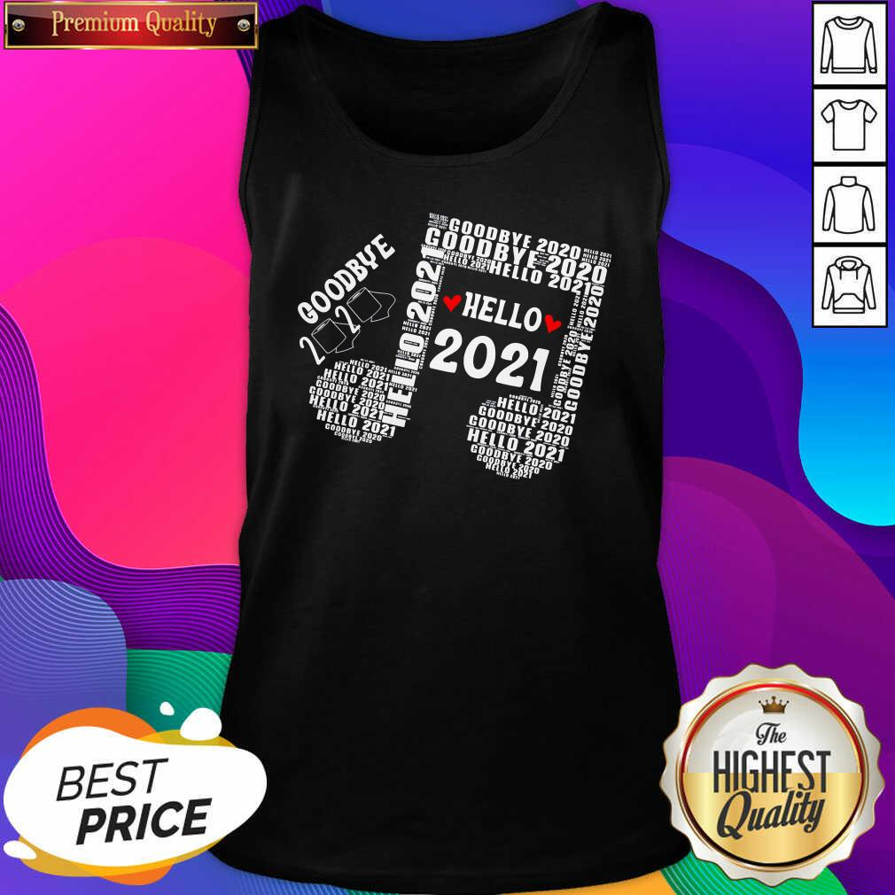 Bye 2020 Hello 2021 New Years Heart Music Note Tank Top- Design By Sheenytee.com