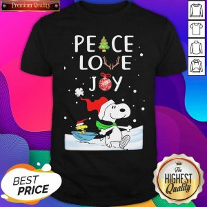 Snoopy Peace Love Joy Christmas Shirt- Design By Sheenytee.com