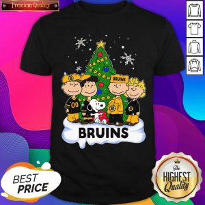 Snoopy The Peanuts Boston Bruins Christmas Shirt- Design By Sheenytee.com