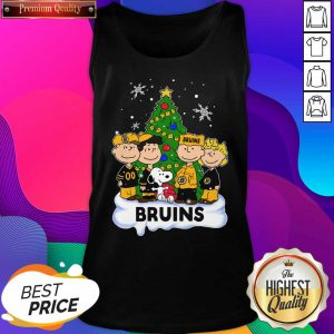 Snoopy The Peanuts Boston Bruins Christmas Tank Top- Design By Sheenytee.com