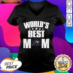 World's Best Colorado Rockies Mom V-neck- Design By Sheenytee.com