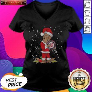Santa Baby Groot Hug Washington Nationals Christmas V-neck- Design By Sheenytee.com