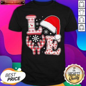 Love Hat Santa And Reindeer Ugly Christmas Shirt- Design By Sheenytee.com