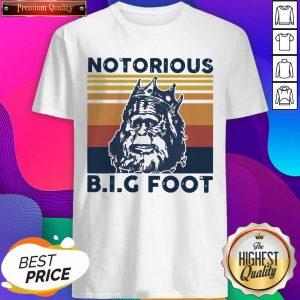 Notorious Bigfoot King Vintage Sweatshirt- Design By Sheenytee.com