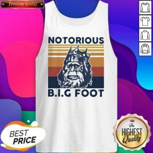 Notorious Bigfoot King Vintage Tank Top- Design By Sheenytee.com