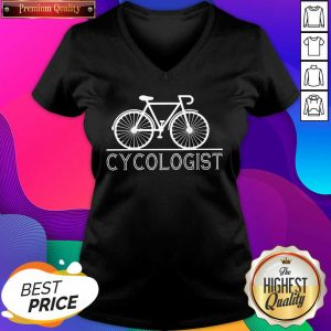 The Bicycle Cycologist V-neck- Design By Sheenytee.com