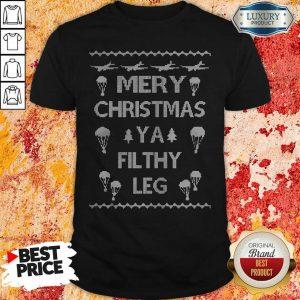 Merry Christmas Ya Filthy Leg Ugly Christmas Shirt-Design By Soyatees.com