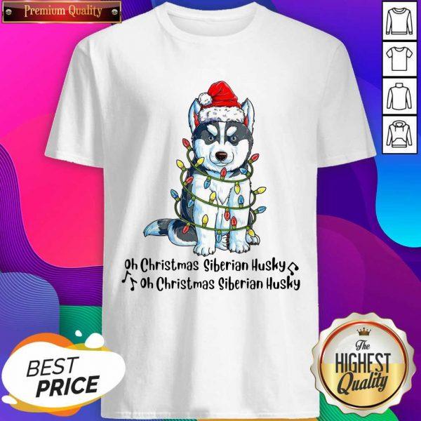 Husky Santa Light Oh Christmas Siberian Husky Oh Christmas Siberian Husky Shirt- Design By Sheenytee.com