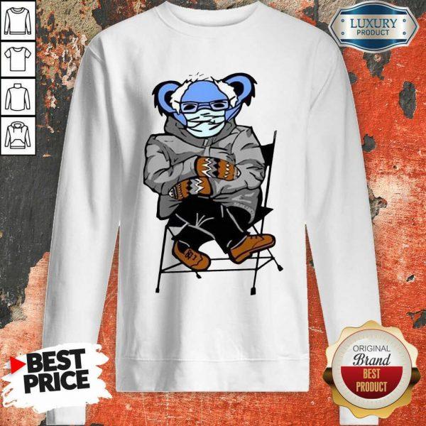 Great Sloth Mask 4 Bernie Sanders Meme Sweatshirt - Design by Sheenytee.com