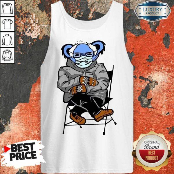 Great Sloth Mask 4 Bernie Sanders Meme Tank Top - Design by Sheenytee.com