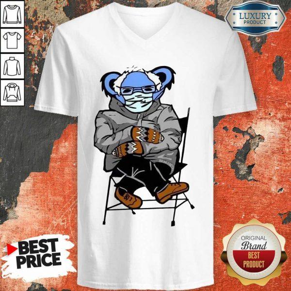 Great Sloth Mask 4 Bernie Sanders Meme V-neck - Design by Sheenytee.com