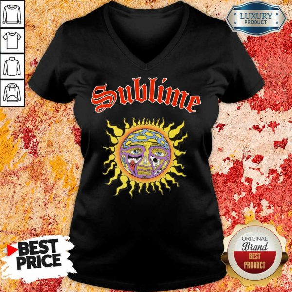 Intrigued Sublime 1 Sun V-neck - Design by Sheenytee.com