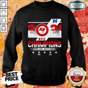 Worried 2021 NFC Chamouin Tampa Bay Buccaneers 2002 2020 Sweatshirt - Design by Sheenytee.com