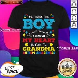 Boy Calls Me Grandma 9 Autism Awareness Shirt - Design by Sheenytee.com