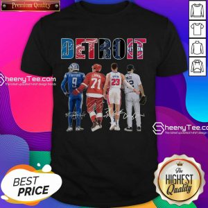 Detroit 4 Stafford Larkin Griffin Mize Signatures Shirt - Design by Sheenytee.com