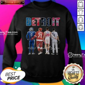 Detroit 4 Stafford Larkin Griffin Mize Signatures Sweatshirt - Design by Sheenytee.com
