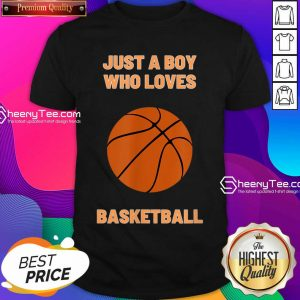 Just A Boy Who Loves 1 Basketball Shirt - Design by Sheenytee.com