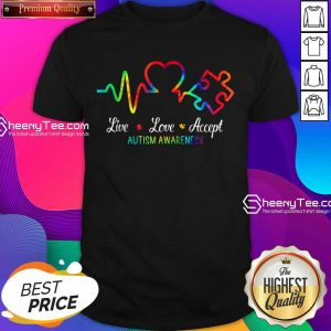 Live Love Accept 2 Autism Awareness Tie Dye Shirt - Design by Sheenytee.com