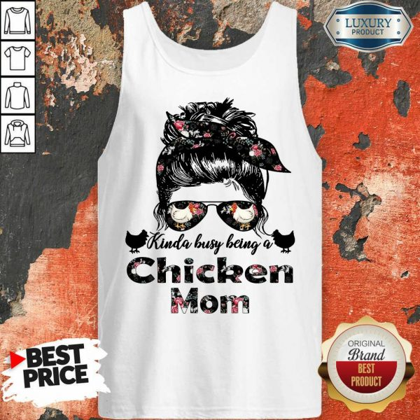 Hot Kinda Busy Being A Chicken Mom Farmer Tank Top