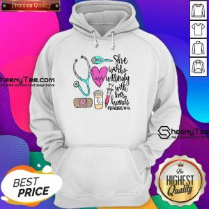 Original She Works Willingly With Her Hands Proverbs Hoodie