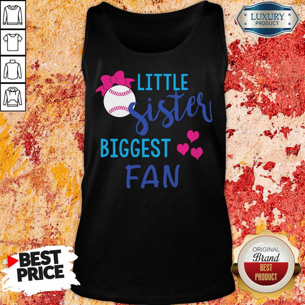 Baseball Little Sister Biggest Fan Tank Top