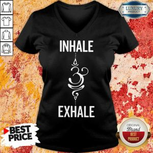 Inhale Exhale V-neck