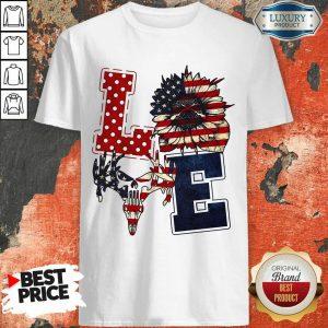 Sunflower Love American Flag Shirt